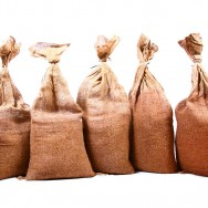 6 Filled Hessian Sandbags