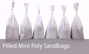 Filled Mini Poly Sand Bags